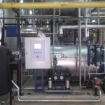 Steam boiler in a hospital in Caceres