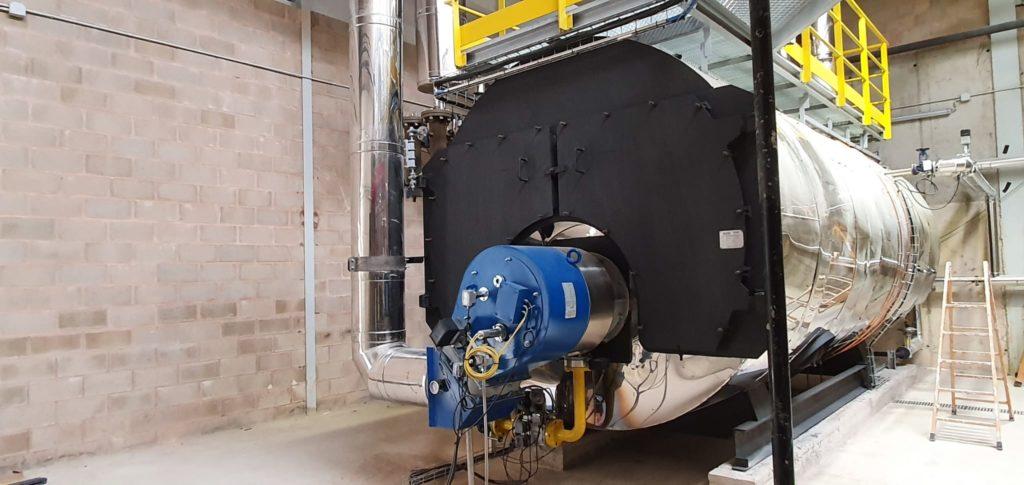 Vista del equipo generador de vapor | Renovacion de calderas industriales | Soluciones de combustion