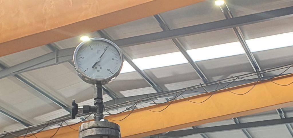 Test de presion hidraulica de la caldera - Soluciones Integrales de Combustion