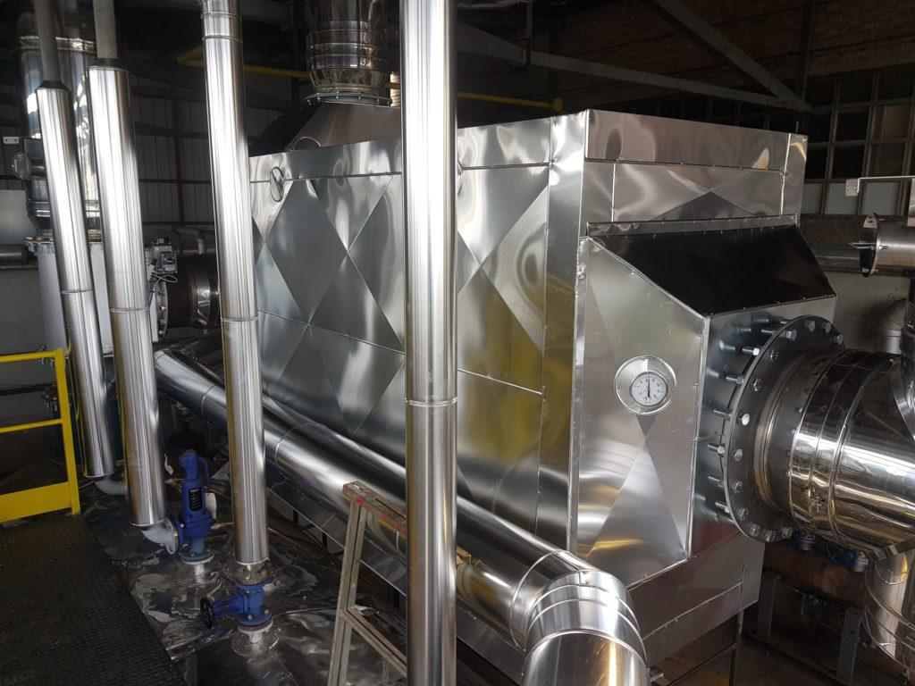 Modernizacion de una instalacion termica - Instalacion de Precalentador y aislamiento termico - Soluciones Integrales de Combustion