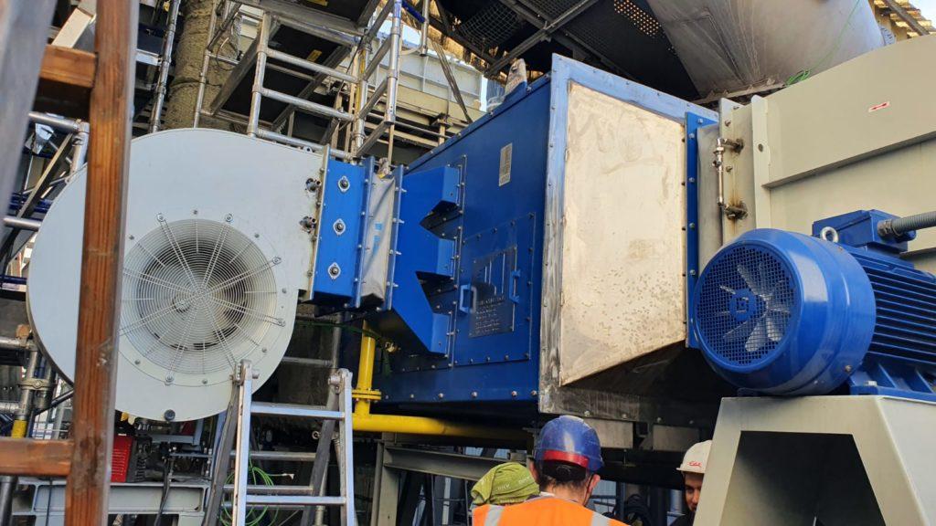 Quemador de vena de aire para el tratamiento de escorias de aluminio - Soluciones Integrales de Combustion