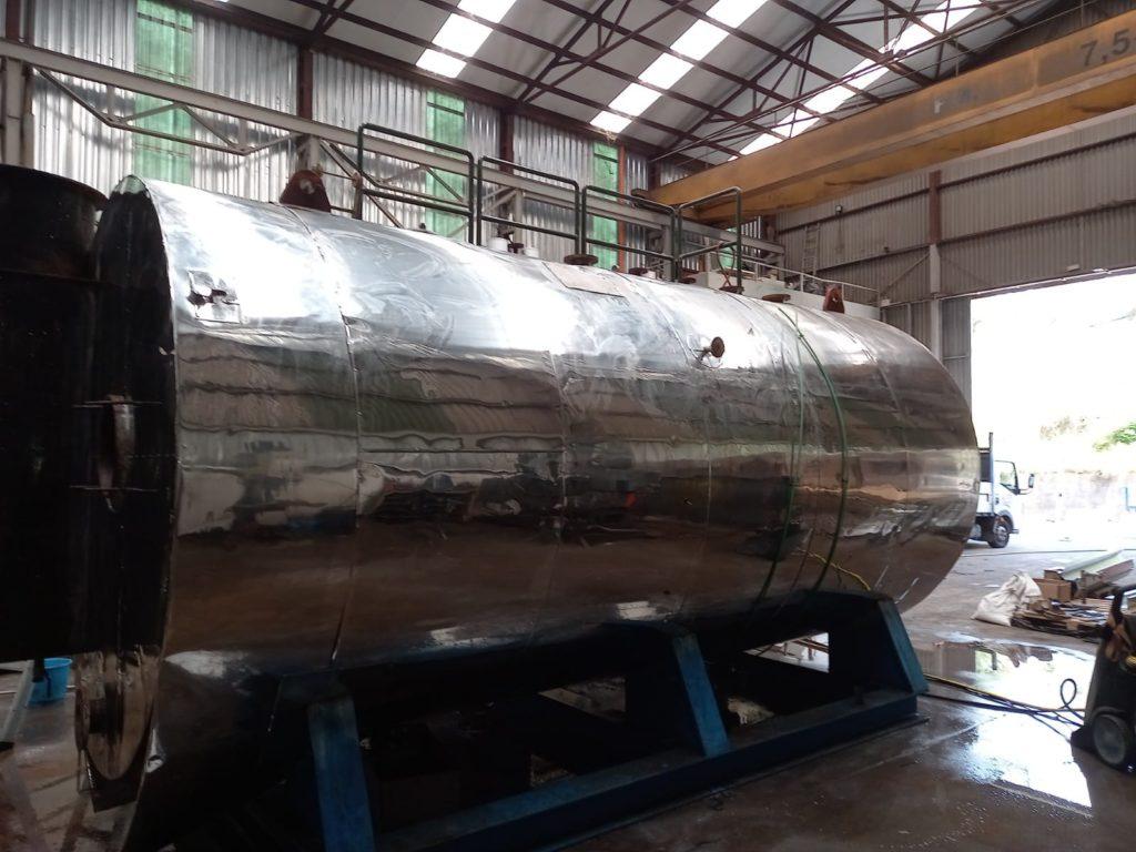 Reparacion de Caldera pirotubular de vapor - Soluciones Integrales de Combustion